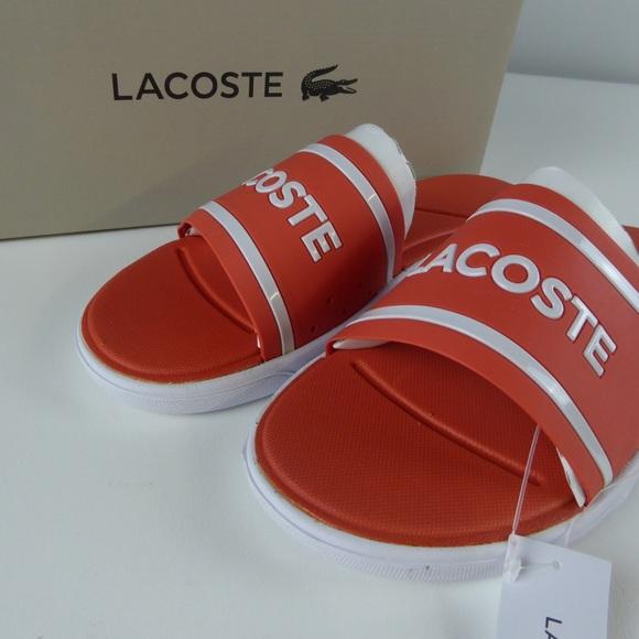 9947ce47e Lacoste L.30 Slide Sandals Caw Synthetic NIB Pink